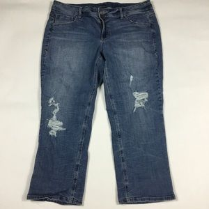 Lane Bryant Cropped Genius Fit Jeans Womens 18